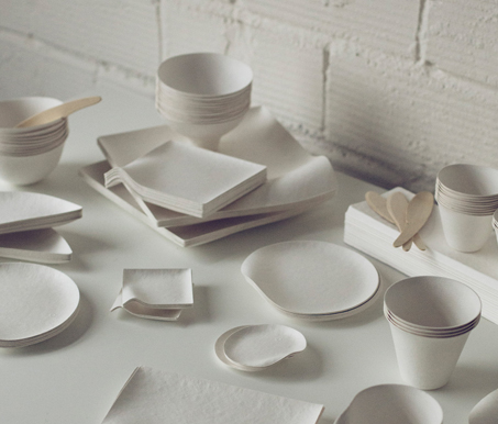 & WASARA is elegant yet sustainable compostable tableware | W A S A R A